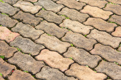 Block warms cement block on texture. On the floor Stock Photos