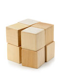 The block from wooden cubes Royalty Free Stock Photography