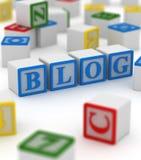 Block writing on blog Stock Photo