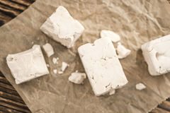 Block of Yeast (selective focus) Royalty Free Stock Images