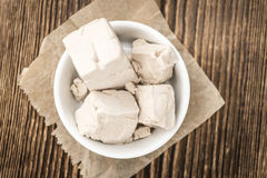 Block of Yeast (selective focus) Royalty Free Stock Image