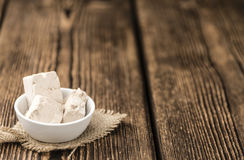 Block of Yeast (selective focus) Royalty Free Stock Photography