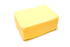 Block of yellow butter Royalty Free Stock Image