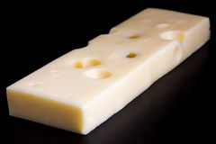 Block of yellow cheese. Stock Image