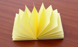 Block of yellow Post it Notes Stock Photos
