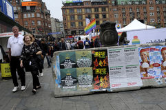 BLOCKAD PÅ DET SQ KÖPENHAMNSTADSHUSET Köpenhamnstolthet Royaltyfri Bild