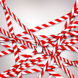 Blockade. With barrier tape and web cursor Stock Images