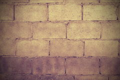 Blockbacksteinmauer Lizenzfreie Stockbilder
