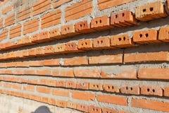 Blockbacksteinmauer Lizenzfreie Stockfotos