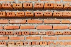 Blockbacksteinmauer Stockfoto