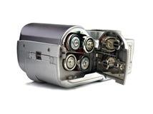 Blockbatterien digitales camer Stockfoto