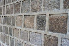 Blockbetonmauernahaufnahme Lizenzfreie Stockfotos