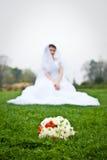 Blockblumenstrauß der Braut Lizenzfreies Stockbild