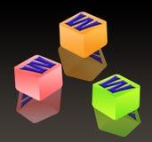 blockbokstav spelling tre www Royaltyfria Foton