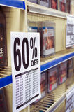 Blockbuster closedown. Games and movies on digital supports marked down for the closedown of a Blockbuster megastore in Italy Stock Photo