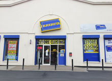 Blockbuster DVD rental firm final closing sale Royalty Free Stock Images