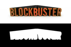 Blockbuster Movie Typography with Alpha Map Royalty Free Stock Images