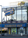 Blockbuster's Shop. Front open for business Stock Image