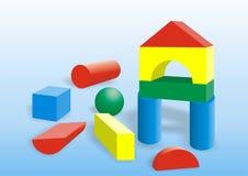blockbyggnad royaltyfri illustrationer