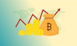 Blockchain传染媒介例证 Bitcoin和Ethereum贸易的概念 库存图片
