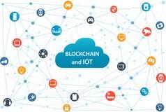 Blockchain和事互联网  库存图片