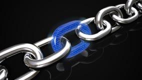 Blockchain技术概念 3d翻译 皇族释放例证