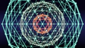 Blockchain技术网络摘要圈动画 股票视频