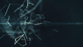 Blockchain выравнивает соединяться, технологию, безопасность, цифровую геометрическую предпосылку с moving линиями и точки закреп бесплатная иллюстрация