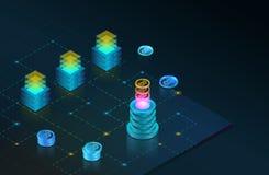 Blockchain begrepp Stock Illustrationer
