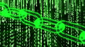 Blockchain Binary Computer Code stock footage