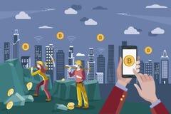 Blockchain and Bitcoin Concept Stock Photos