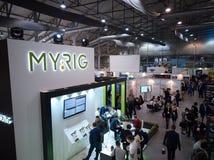 MOSCOW, RUSSIA - NOVEMBER 15-16, 2017. Blockchain and Bitcoin Conference. Expo at Sokolniki Exhibition Center. Aerial Stock Photos