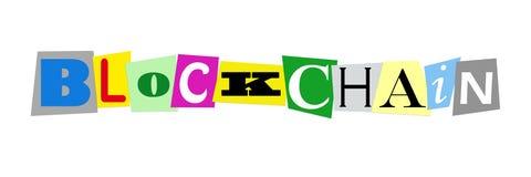 Blockchain or block chain Stock Photography