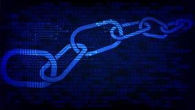 Blockchain-Computergeschäfts-Technologiehintergrund Stockfoto