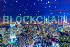 The blockchain concept in database management Royalty Free Stock Images