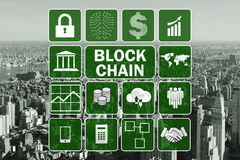 The blockchain concept in database management Royalty Free Stock Photography