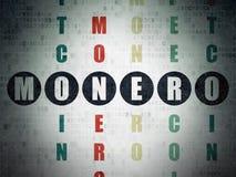 Blockchain concept: Monero in Crossword Puzzle Stock Photo