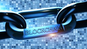 Blockchain cryptocurrency chain as concept Royalty Free Stock Images
