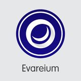 Evareium Virtual Currency. Vector EVM Colored Logo. Royalty Free Stock Images