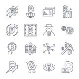 Blockchain, Cryptocurrency icons set. Editable Stroke. Blockchain, Cryptocurrency icons set. Editable Stroke EPS 10 Royalty Free Stock Image