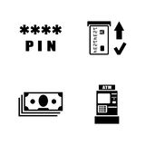 Blockchain cryptocurrency. Simple Related Vector Icons stock illustration
