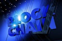 Blockchain 3D Concept Stock Afbeeldingen