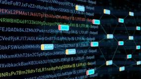 Blockchain-Datenübertragungs-Netz Lizenzfreie Stockfotografie