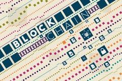 Blockchain i bazy danych pojęcie Obrazy Stock