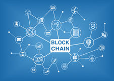 Blockchain  illustration background Royalty Free Stock Photos