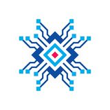 Blockchain - illustration de vecteur de calibre de logo d'affaires de concept Signe créatif de future technologie Icône de crypto illustration de vecteur