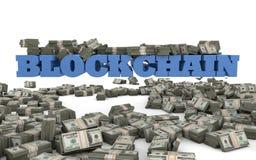 Blockchain inwestycja i technologia Zdjęcia Royalty Free