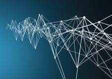 Blockchain komórka lub chemii technologii tło royalty ilustracja