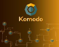Blockchain komodo symbol network concept finance background. Vector illustration Stock Images
