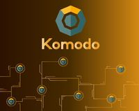 Blockchain komodo symbol network concept finance background. Vector illustration Royalty Free Stock Photography